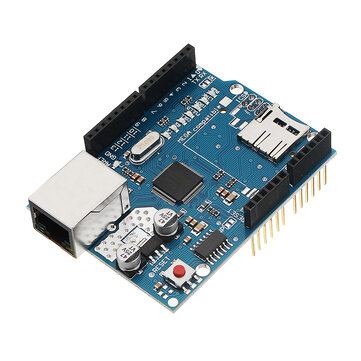 Ethernet Shield Module W5100 Micro SD Card Slot For UNO MEGA 2560 Geekcreit for Arduino - products that work with official Arduino boards