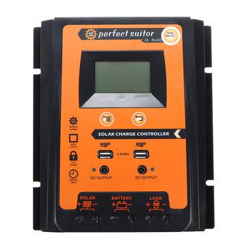 12 / 24V Dual 2.4A USB LCD Solar Controlador de panel Solar Controlador de carga