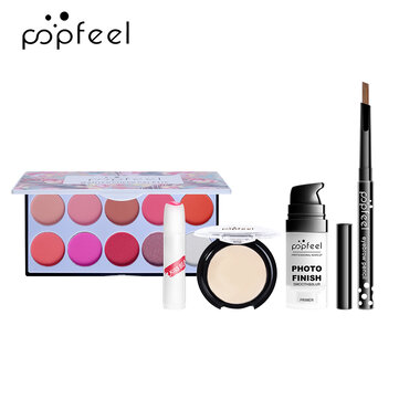 Buy POPFEEL Makeup Set Easy To Apply Foundation Liquid Foundation With Makeup Brushes Tool with Litecoins with Free Shipping on Gipsybee.com