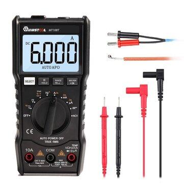 MUSTOOL MT108T Square Wave Output True RMS NCV Temperaturtestare Digital Multimeter 6000 Räknar Bakgrundsbelysning AC DC Ström / Spänningsresistans Frekvens Kapacitans