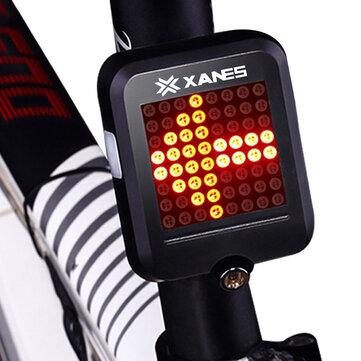 XANES 64 LED 80LM Inteligente Automático Freno de Dirección de Inducción Automática Luz Trasera de Bicicleta de Seguridad con Láser Infrarrojo Luz de Noche Impermeable de Advertencia Carga de USB