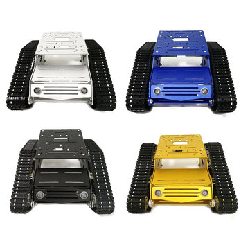 Multi-Color YP100 DIY Chassis Tank Car Kit With Rubber Bearing Wheels