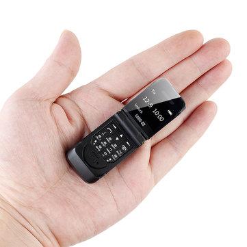 LONG-CZ J9 0.66 Inch 300mAh Smallest Flip Phone bluetooth Dialer FM Magic Voice Handsfree Earphone Mini Card Phone