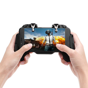 H5 Gamepad Joystick Game Controller USB Built-in Cooling Fan for PUBG Rules of Survival Mobile Game Fire Trigger for Phone