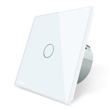 Livolo Panel de Cristal de interruptor Táctil Blanco con la UE Estándar VL-C701-11