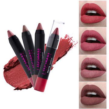 12 Colors Lip Stick Pen Matte Velvet Non Stick To Cup Lip Makeup Waterproof Long-lasting