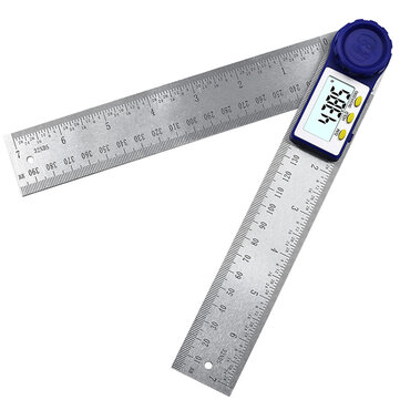 Drillpro 0-200mm Digital Meter Angle Inclinometer Digital Angle Ruler Electron Goniometer Protractor Stainless Steel Angle Finder Measuring Tool