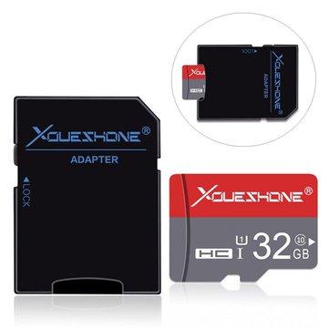 Xoueshone 32GB Clase 10 de alta velocidad Flash Tarjeta de memoria TF con adaptador para teléfono móvil MP4 Cámara