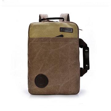 Мужчины Холст Отдых Путешествия Рюкзак Crossbody Сумка Большие емкости ноутбука Сумка Satchel