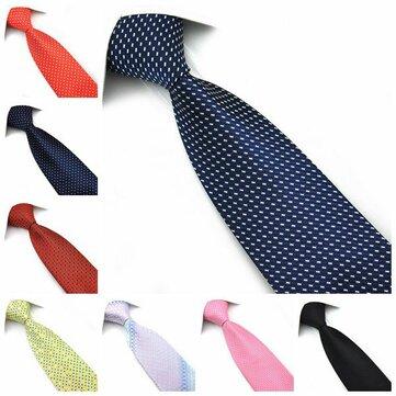 पेन्सी मेन्स टाई सिल्क पोल्का डॉट और फ्लॉवर औपचारिक नेक्टी-विभिन्न रंग सहायक
