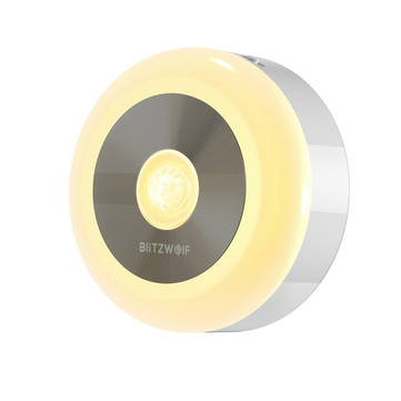 BlitzWolf BW LT15 LED Motion PIR Infrared Sensor Night Light 3000K Color Temperature 120 Lighting Angle