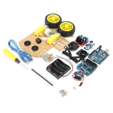Geekcreit® DIY L298N 2WD Ultrasonik Akıllı İzleme Moteur Robot Araba Kit Arduino İçin