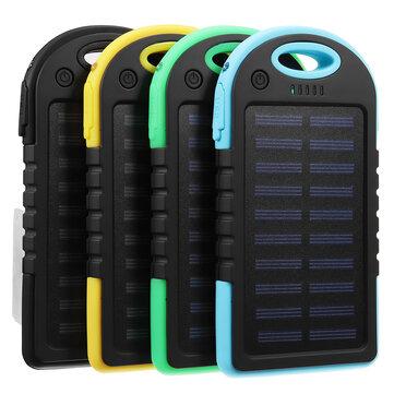 एक्सेलवे® पोर्टेबल 10000 एमएएच सौर संचालित सिस्टम चार्जर यूएसबी बैटरी चार्जर केस कैम्पिंग आउटडोर क