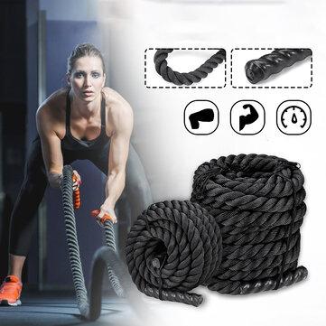38mmx9/12/15m Heavy Battle Rope Fitness Climbing Strength Training Undulation Exercise Tools