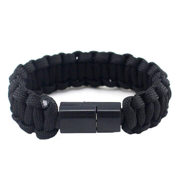 IPRee® EDC Outdoor Survival Bracelet Camping Emergency Paracord Tool Kits USB Data Cable For iPhone