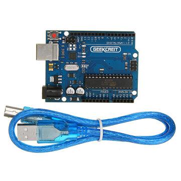 UNO R3 ATmega16U2 AVR לוח ראשי לפיתוח USB Geekcreit לארדואינו - מוצרים העובדים עם לוחות ארדואינו רשמיים