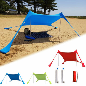 210x210x160CM Family Beach Sunshade Lightweight Anti-UV Sun Shade Tent With Sandbag Anchors For Parks & Outdoor Camping for sale in Litecoin with Fast and Free Shipping on Gipsybee.com