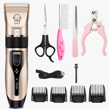 Professional Dog Hair Electric Trimmer With 1 Set Of Clipper Tools USB Charging Pet Grooming  Haircut Tool Low-noise Cat Shaver for sale in Bitcoin, Litecoin, Ethereum, Bitcoin Cash with the best price and Free Shipping on Gipsybee.com