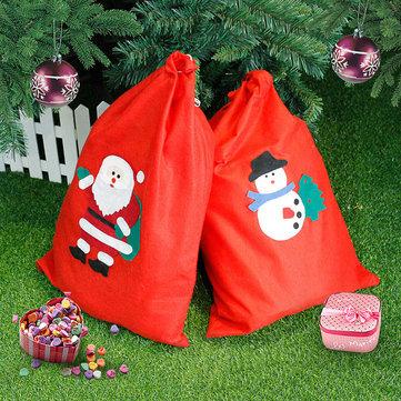 Nueva decoración navideña Santa Snowman Saco grande Navidad gran regalo