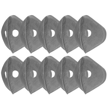 10Pcs/Pack 5-Layers Cycling Mask Filter Replacement Anti Dust PM2.5 Activated Carbon Filter for Bike Bicycle Face Mask Sport Mask Filters