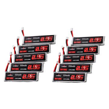 10Pcs URUAV 3.8V 550mAh 50/100C 1S HV 4.35V PH2.0 Lipo Battery for Emax Tinyhawk Kingkong/LDARC TINY