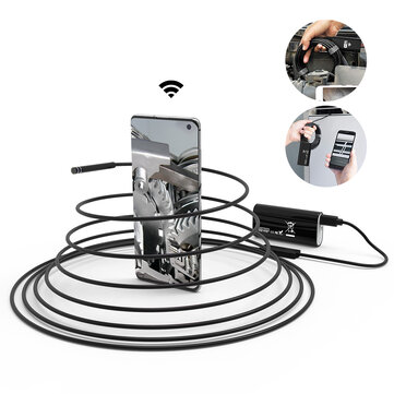 DIGOO DG YPC99 5.5mm 720P 2 Megapixel Smart WIFI Borescope Inspection Camera 3 in 1 5M Soft Cable