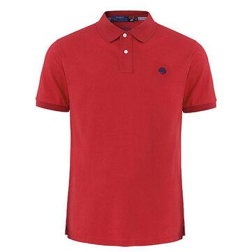 पुरुषों ग्रीष्मकालीन प्लस आकार शुद्ध रंग गोल्फ शर्ट टर्न-डाउन कॉलर लूज लघु आस्तीन टॉप