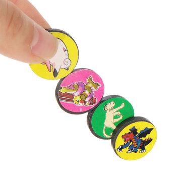4PCS X 20 Circular Cartoon Design Black Magnet Magnetic Toys