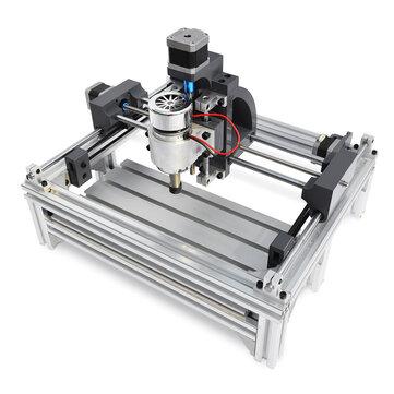 2415 हेवी ड्यूटी सीएनसी राउटर लकड़ी उत्कीर्णन काटने की मशीन स्पिंडल मोटर एनग्रावर 240x150x70mm
