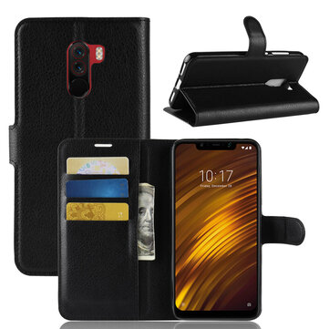 Bakeey Flip Card Slot PU Leather Cover Protective Case For Xiaomi Pocophone F1