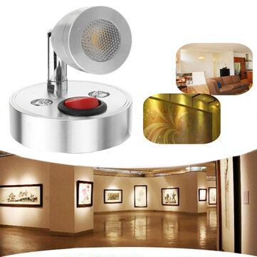 12V 3W Interior LED Spot Reading Lamp with Switch for Caravan Bedside Wall Cabinet Closet Light