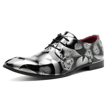 बड़े आकार के कम्फर्ट लेदर बिजनेस फॉर्मल शूज़ पैटर्न पुरुषों के लिए पैर के अंगूठे के जूते की ओर इश