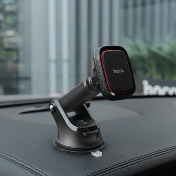 HOCO Magnetic Car Center Console Phone Holder Retractable Dashboard Bracket for iPhone XS