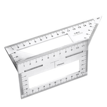 45 or 90 Degree Stainless Steel Woodworking Scribe T shaped Ruler Multifunctional Square Angle Ruler Angle Gauge