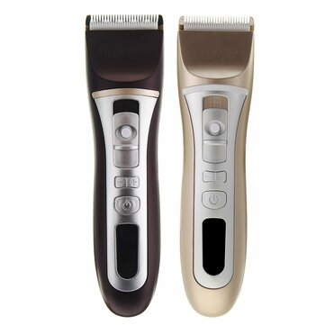 100V-240V Electric Hair Clipper Gold Black Charging LCD Display Hair Trimmer With Comb