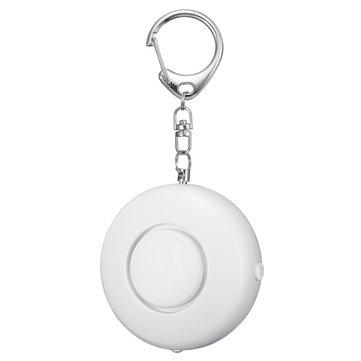 125dB Lớn xách tay hình tròn túi Keychain Chống trộm Báo động an ninh cá nhân với đèn LED sáng