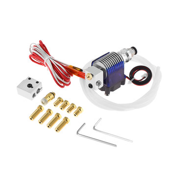 TWO TREES® 12V V6 J-head Extruder 1.75mm Volcano Block Long Distance Nozzle Kits With 8pcs Nozzle & Cooling Fan for 3D Printer