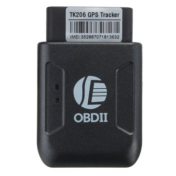TK206 Car Truck Vehicle GPS Real Time Tracker Mini Tracking Device OBD II GSM GPRS