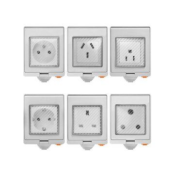 SONOFF® S55 Tahan Air WIFI Smart Socket Beralih UK / AU / US / FR / DE / ZA Beberapa Versi Wifi Socket Bekerja Dengan Alexa Google Home