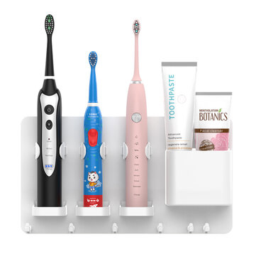 Jordan&Judy Adjustable Toothbrush Holder Toothpaste Storage Rack Shaver Tooth Bathroom for Soocas Oclean Toothbrush from Coupon Code and price! - $9.68