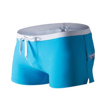 ऑस्टिनबेम बैक जिपर पॉकेट समर बीच सर्फ वॉटर स्पोर्ट्स शॉर्ट्स बॉक्सर्स पुरुषों के लिए तैरना ट्रं