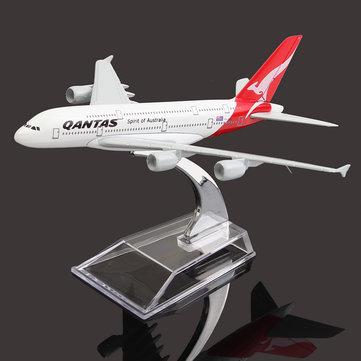 16cm Airplane Metal Plane Model Aircraft A380 AUSTRALIA QANTAS Aeroplane Scale Desk Toy