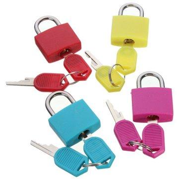 Travel Mini Brass Padlock with 2 keys Set Luggage Suitcase Bag Safe Secure Lock