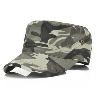 Mens Vintage Cotton Breathable Flat Baseball Hat Outdoor Visor Military Training Cap Adjustable