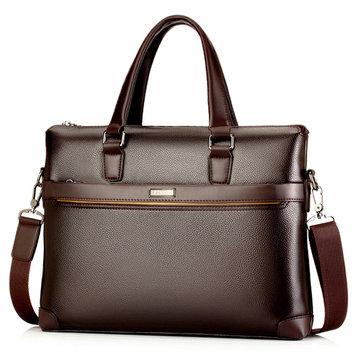 גברים PU עור עסקים מזוודה תיק נייד תיק מסנג 'ר תיק עבודה
