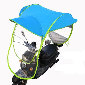 Mobility Scooter Sun Rain Wind Cover Electric Car Prevent Umbrella 2.8*0.8*0.75M Blue