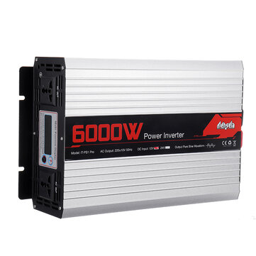 Mensela IT PS1 Pro Intelligent Screen Solar Pure Sine Wave Power Inverter 2200W or 3000W or 4000W or 5000W or 6000W or 7000W DC 50HZ 12V or 24V To AC 220V Converter