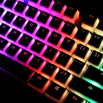 104 Key PBT OEM-profil Dubbelhudsmjölkpudding Keycap Translucent Key Caps för mekaniskt tangentbord
