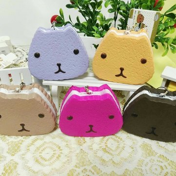 1PC 10CM Random Color Carapace Squishy Layer Cake Cell Phone Strap Cream Scented