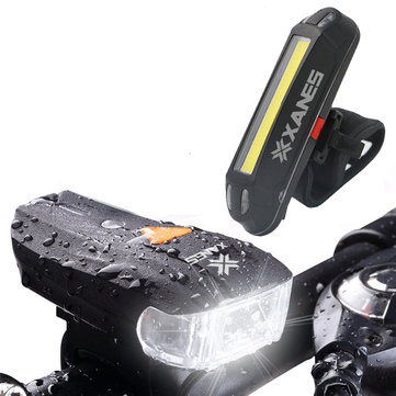 XANES 600LM German Standard Lampu Depan Sepeda 500LM USB Rechargeable LED Sepeda Lampu Belakang Set